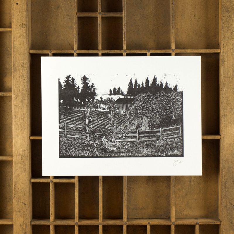 the farm print
